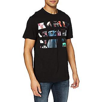G-STAR RAW Originals Foto Grafisk Rak T-Shirt, Dk Svart C372/6484, Små Män