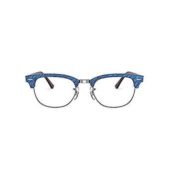 راي بان CLUBMASTER-0RX51548052، الأزرق التجاعيد على براون، 51 للجنسين الكبار