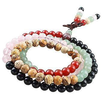 KYEYGWO 108 - Bracelet with Mala prayer pearls for men and women, 6 mm, with Tibetan Buddhist healing stone, unisex, Ref. 0635946998793