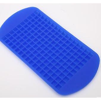 160 Small Ice Maker Tiny Ice Cube Trays Chocolate Mold Mould Maker For Kitchen Bar Party(Blue)