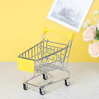 Mini Shopping Cart Trolley Home Office Sundries Storage Ornaments's Toy