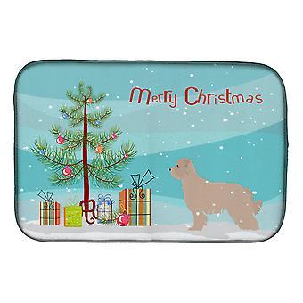 Caroline's Treasures Pyrenean Shepherd Dog Merry Christmas Tree Dish Drying Mat, 14 X 21