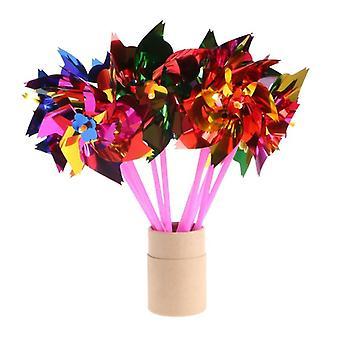 Moinho de Vento de Plástico, Pinwheel, Wind Spinner Kids Toy, Party Decor