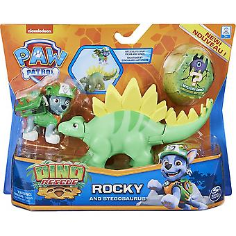 Paw Patrol Rocky & Stegosaurus Dino Rescue Figur Set