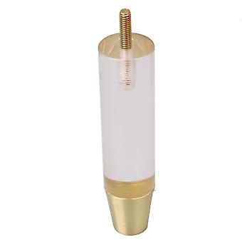 För Akryl Transparent Cylindrical Dining Table Feet Legs 14.9cm Höjd WS2834
