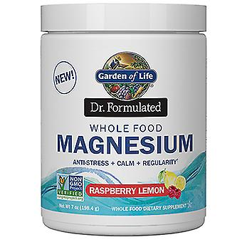 Garden of Life Dr. Formuleret magnesiumpulver, hindbær citron, 7 Oz
