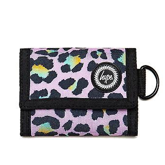 Hype Disco Leopard Trifold Wallet Money Purse Pink