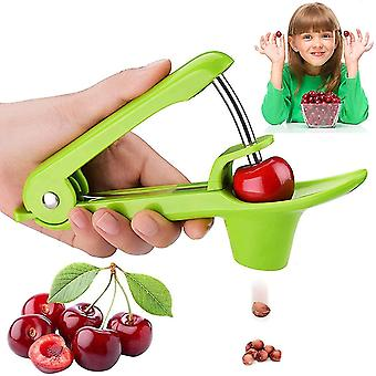 Cherry Pitter Tool, Olive Pitter Tool, Fruit Pit Core Remover(Green)