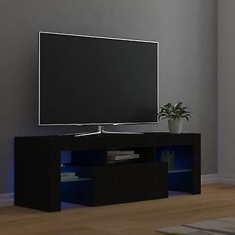 vidaXL TV-kaappi LED-valoilla Musta 120x35x40 cm