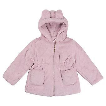 Soft Princess Girls Cute Bunny Winter Outerwear Pink 130cm