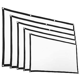 Projection screens foldable soft 16: 9 projection screen cloth 4k 3d hd projector movie outdoor
