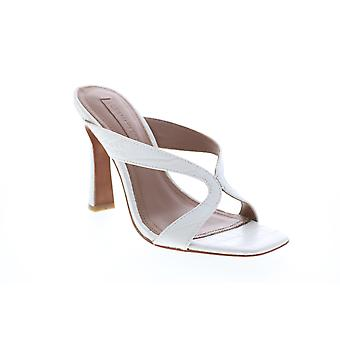 BCBG Max Azria Adult Womens Ines Croco Emboss Leather Strap Heels