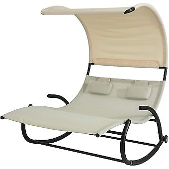 SoBuy OGS50-MI, sun bed mecedora con sombra
