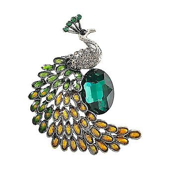 Elegantní dámské brože páv corsage diamant vysílaný malovaný brož pin