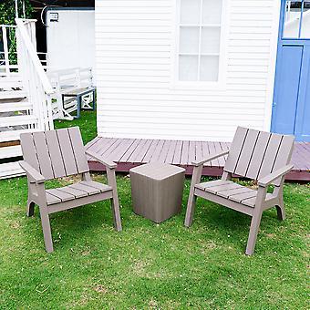 Meubles de patio de jardin en plastique Ensemble de tables et de chaises
