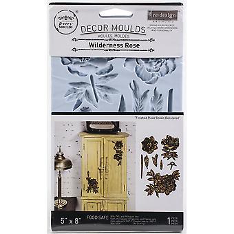 "Prima Marketing Re-Design Moule 5""X8""X8mm - Wilderness Rose"