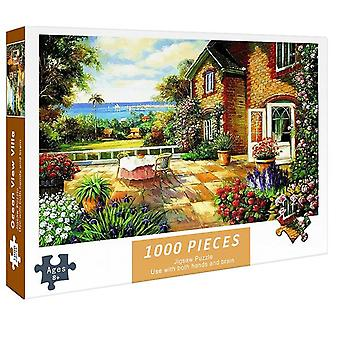 DIY 1000 Pieces Educational Paper Puzzles Jigsaw Intellectual Game Toys