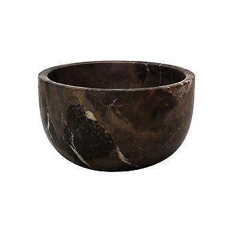 """Spura Home Eros Collection Black & Gold Marble 6"""" Honed Finish Nut Bowl"""