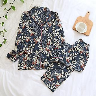 New Spring And Autumn Ladies Pajamas 100% Viscose Long Sleeves Home Cl
