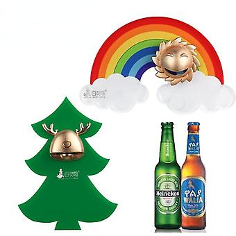 Funny christmas tree rainbow beer bottle opener refridgerator magnets