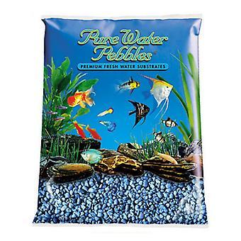 Pure Water Pebbles Aquarium Gravel - Neon Blue - 5 lbs (3.1-6.3 mm Grain)