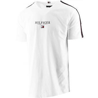 Tommy Hilfiger Cinta de contraste blanco Logotipo Camiseta