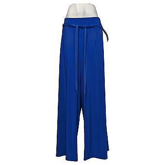 Nina Leonard Women's Plus Pants Miracle Matte Wide-Leg Blue 729874