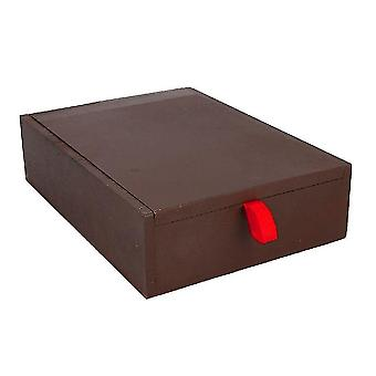 Handcrfted Wooden Jewlry Box with Bangle and Ring Storage Brown Weight: 1000 Gms