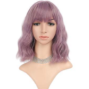 Violetti aaltoileva peruukki