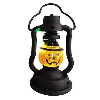 هالوين كيروسين فانوس هالوين هيكل عظمي مصباح اليقطين التغيير التدريجي ليلة ضوء ساحة الديكور