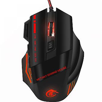 Rgb Marquee Mouse, Professional Gaming Wired Optical Mouse