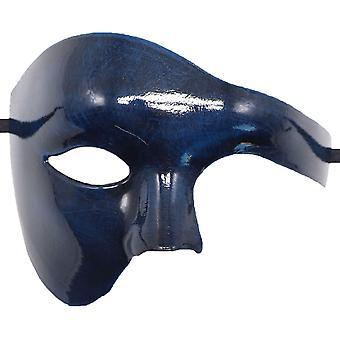 Pvc Cosplay Mask Plastic Half Face Punk Carnival Men's/women's Accessories-ancient Blue