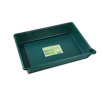 Pouring Tray (with Lip) Green Garden Plastic Potting