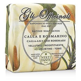 Nesti Dante Gli Officinali Soap - Calla-lily & Rosemary - Velveting & Tonic - 200g/7oz