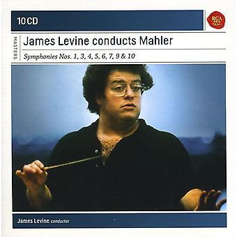 J. Brahms - James Levine Conducts Mahler: Symphonies Nos. 1, 3, 4, 5, 6, 7, 9 & 10 [CD] USA import