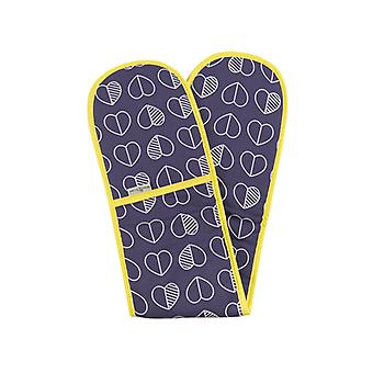 Beau & Elliot Confetti Outline Double Oven Glove, Midnight Blue