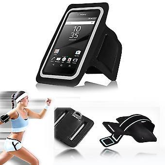 الهاتف الذكي إينفينتكاسي الرياضية رياضية الركض تشغيل شارة غطاء حالة الأكمام الحقيبة--الأسود (الحجم: 5.5