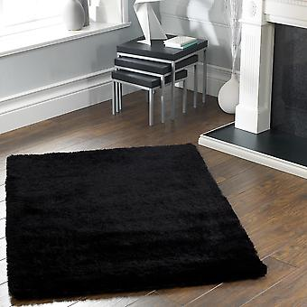 Shimmer Shaggy Rugs In Black
