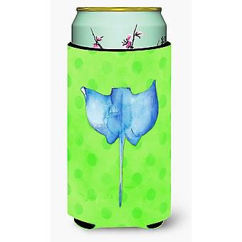 Sting Ray Green Polkadot Tall Boy Beverage Insulator Hugger