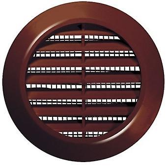 60mm Diameter Hole White/Brown Round Door Air Vent Grille Woodwork Furniture