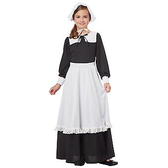 Pilgrim Thanksgiving Olden Day Colonial Victorian Book Week Girls Costume