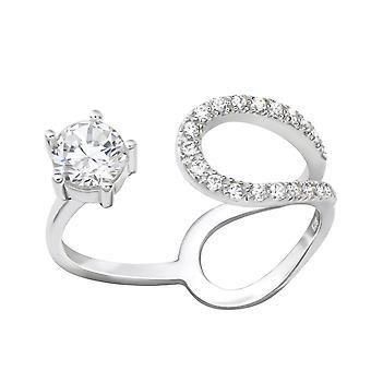 Open - 925 Sterling Silver Jewelled Rings - W36532X