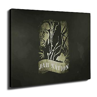Bob Marley Jah Weed Wall Art Canvas 40cm x 30cm | Wellcoda