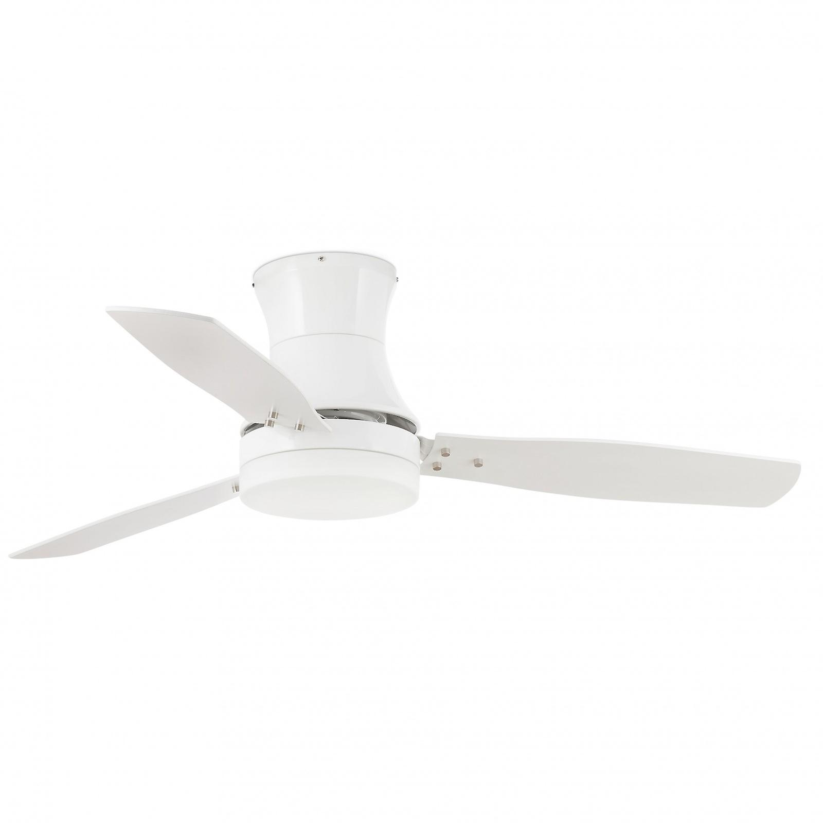 Ceiling Fan Tonsay White with Light and Remote
