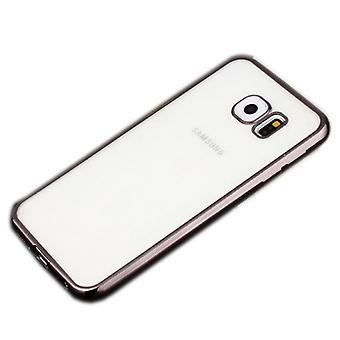 Premium TPU Silikoncase czarny do Samsung Galaxy S7 edge G935 G935F