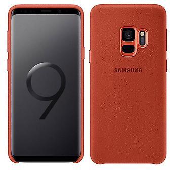 Samsung Alcantara dekke EF XG960AREGWW for Galaxy S9 G960F bag tilfelle rød