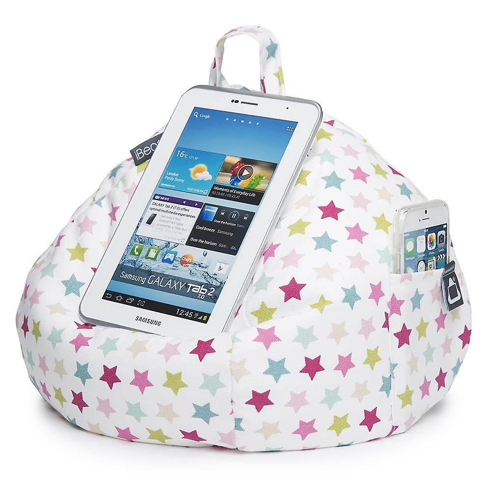 IPad, tablet & ereader bean bag stand-by ibeani - roze sterren
