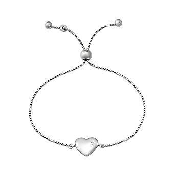Heart - 925 Sterling Silver Chain Bracelets - W37474X