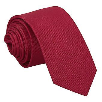 Tango Red Panama Silk Slim Tie
