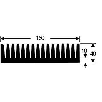 فيشر Elektronik SK 85 100 SA Fin بالوعة الحرارة 0.85 K/ W (L x W x H) 100 × 160 × 40 ملم